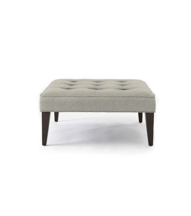 West Elm Upholstered Tufted Ottoman