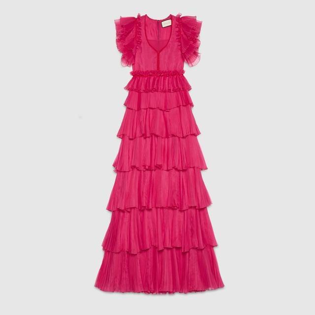 Gucci Silk Ruffle Gown