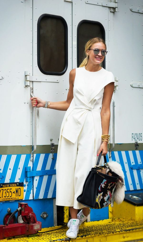 Outfit 1: Jumpsuit + Sneakers