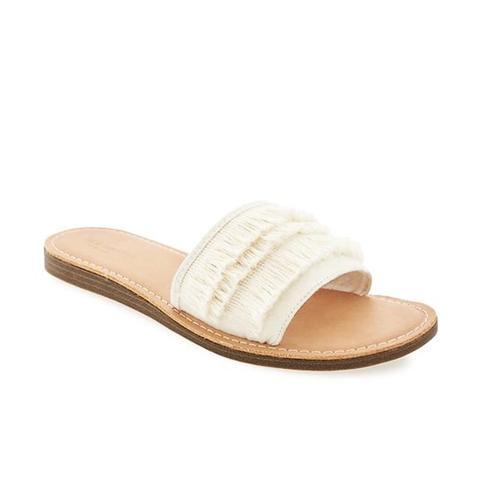 Sueded Fringe Sandals