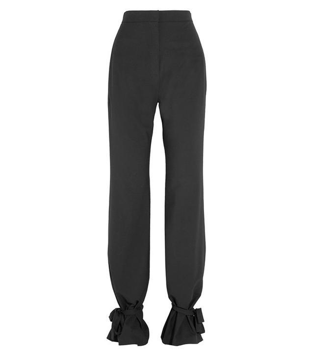 J.W.Anderson Tie-Detailed Stretch-Piqué Wide-Leg Pants