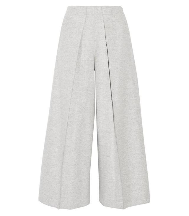 Joseph Nixie Brushed Wool-Blend Wide-Leg Pants