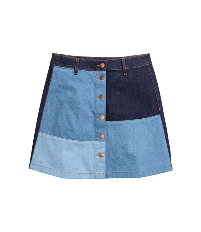 H&M A-Line Denim Skirt
