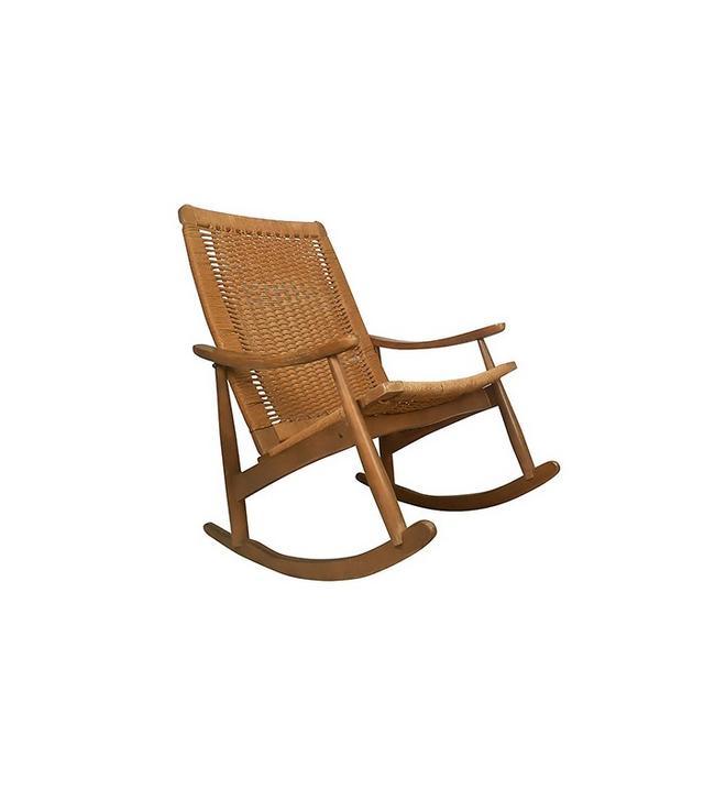Vintage Wegner-Style Mid Century Rocking Chairs