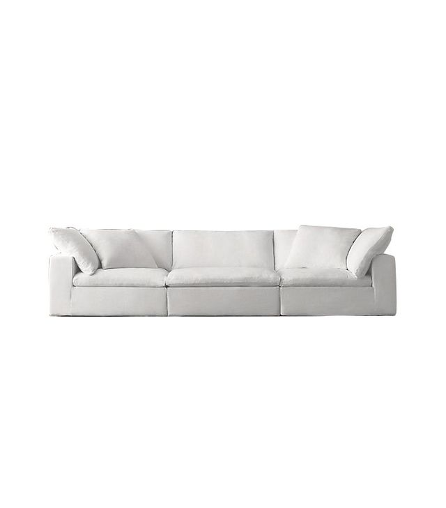 Restoration Hardware Preconfigured Cloud Modular Slipcovered Sofa
