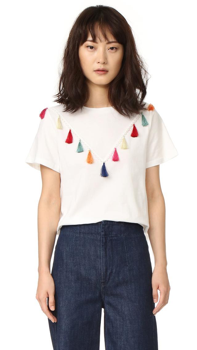 Short Sleeve Tassel T Shirt