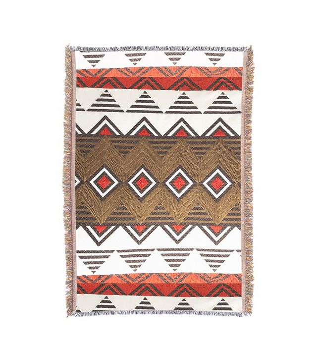 Artazon Tribal Diamond Geometric Throw Blanket