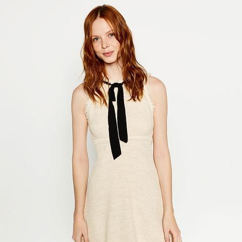 Tweed Dress With Layered Skirt