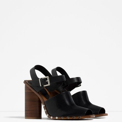 Leather Studded Clogs