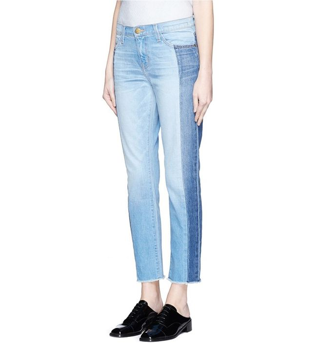 Current/Elliot The Seamed Vintage Straight Cropped Jeans