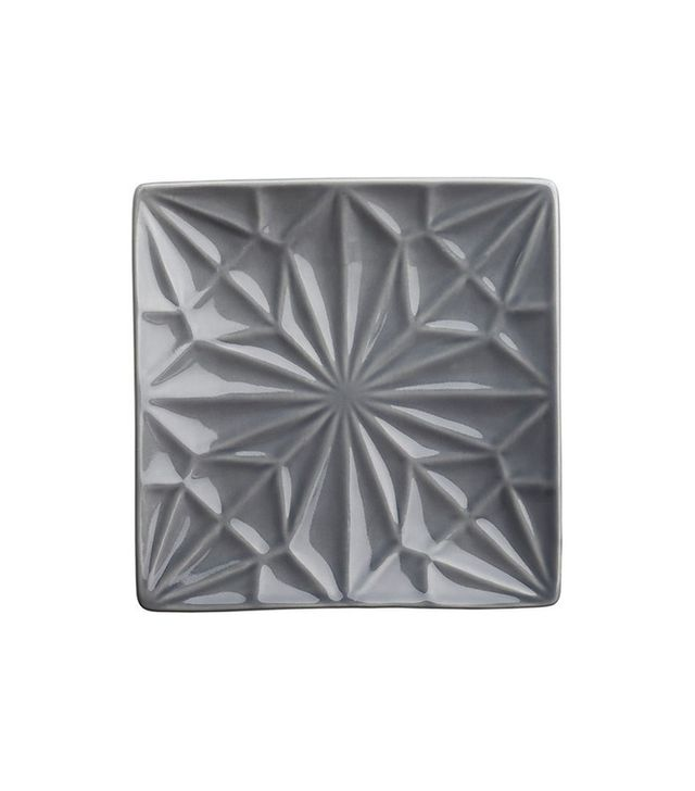 CB2 Flake Gray Party-Appetizer Plate