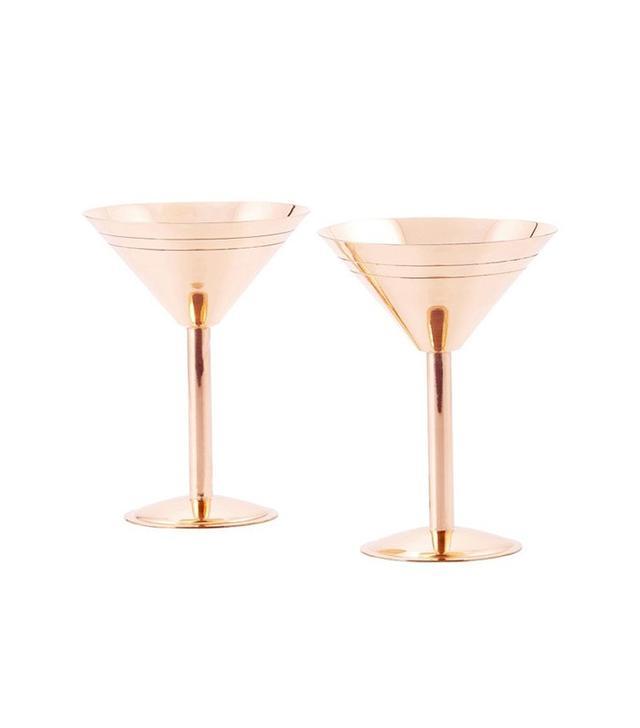 Old Dutch Solid Copper Martini Glasses