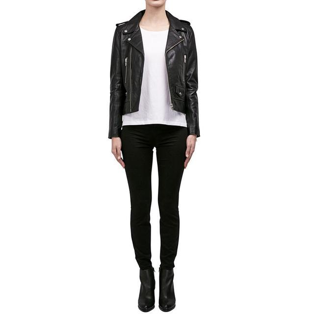 Nicholas Leather Zip Biker Jacket
