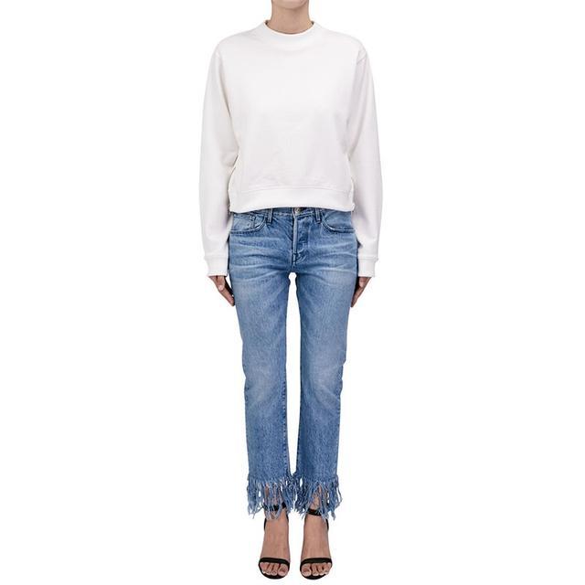 3 X 1 WM3 Straight Crop Fringe Jeans