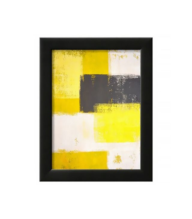 Art.com Grey and Yellow Abstract Art