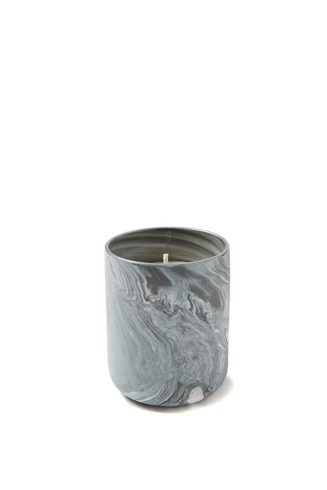 Typo Small Candle in Black Marble