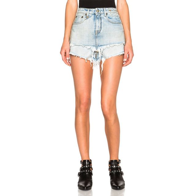 R13 Double Layer Shorts in Bristol Blue
