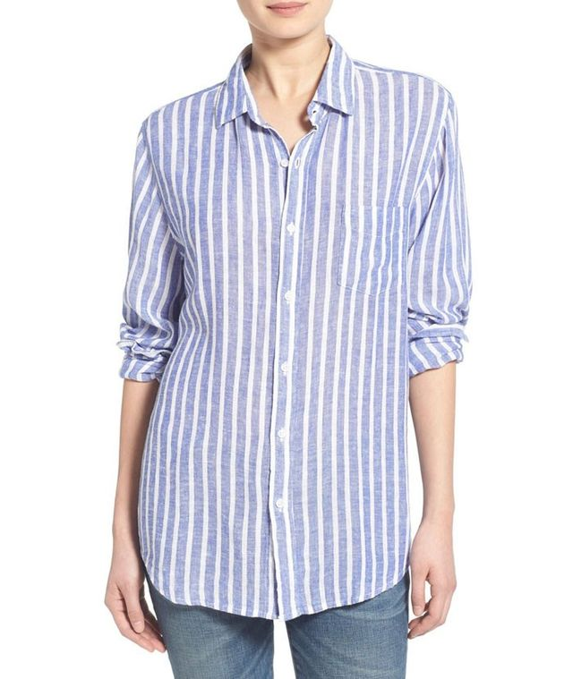 Rails Charli Stripe Linen Blend Shirt