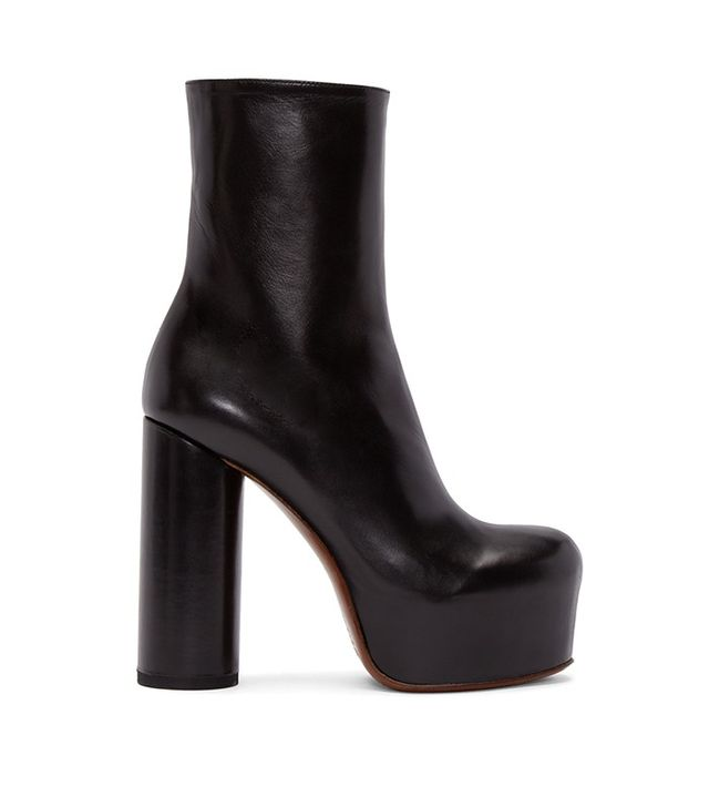 Vetements Black Leather Chunky Boots