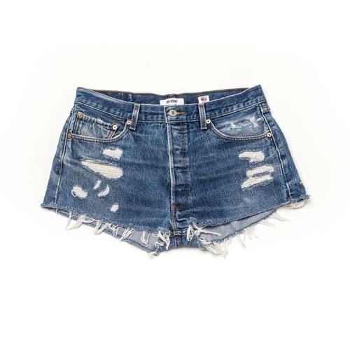 Re/Done Cuff-Off Denim Shorts