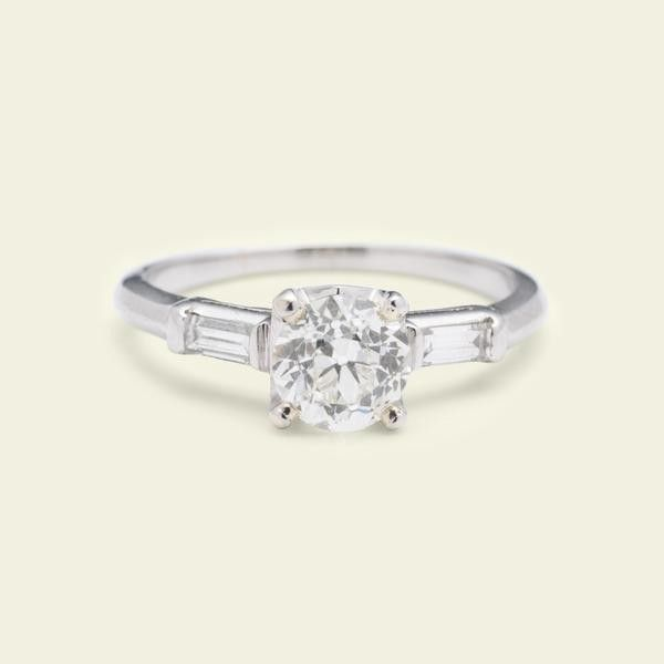 Erica Weiner 1.08ct Old European Cut Diamond Ring