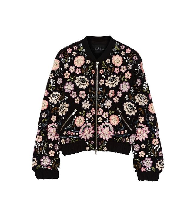 Needle & Thread Embellished Chiffon Bomber