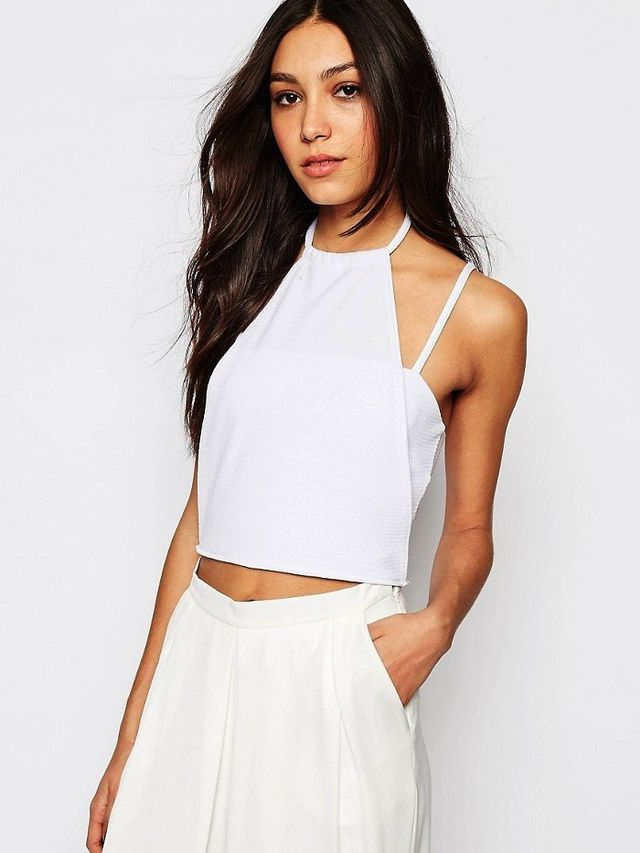 Daisy Street Cropped Halter Neck Top