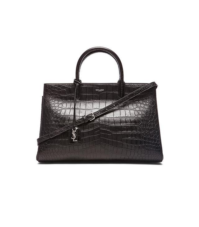 Saint Laurent Croc Cabas Bag