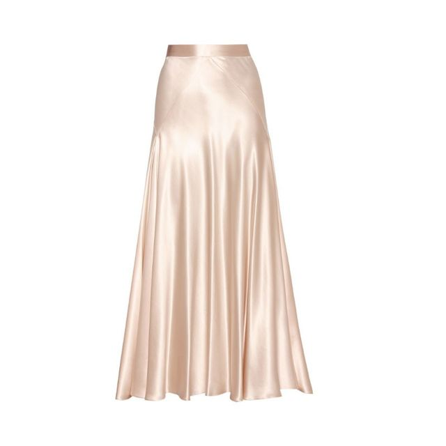 Hillier Bartley Silk Satin Skirt