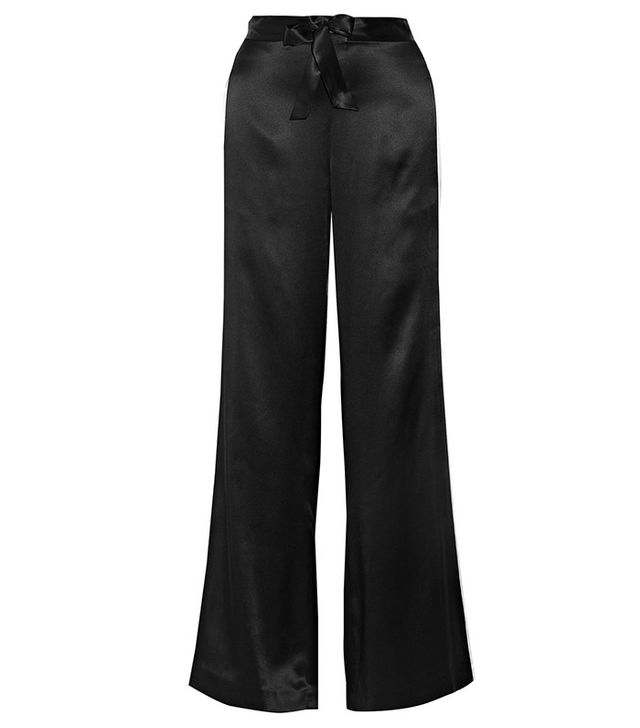 La Ligne Silk-Charmeuse Wide-Leg Pants