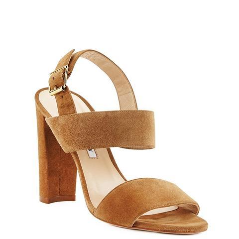 Kahn Suded Double-Band Sandals