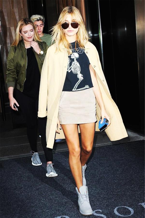 Hailey Baldwin's go-to section at Zara: outerwear.