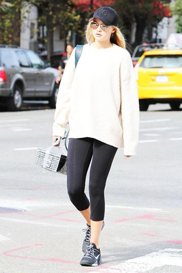 Gigi Hadid's go-to section at Zara: sweatshirts.