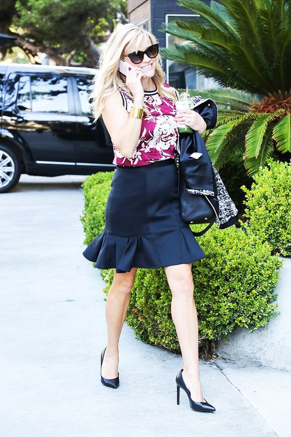 Reese Witherspoon's go-to section at Zara: tops.