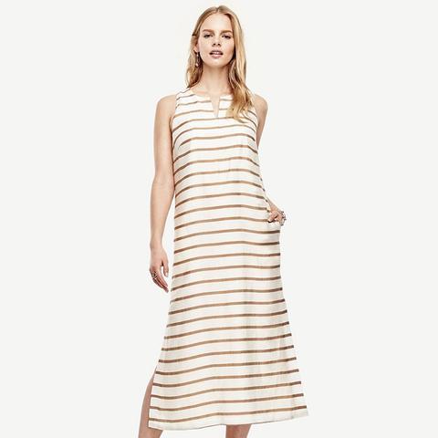 Striped Sleeveless Caftan