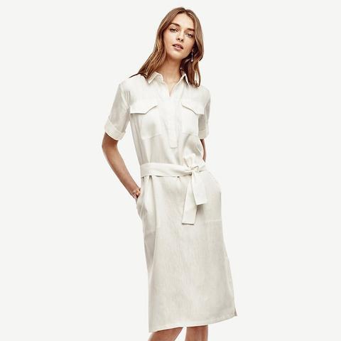 Linen Blend Shirtdress