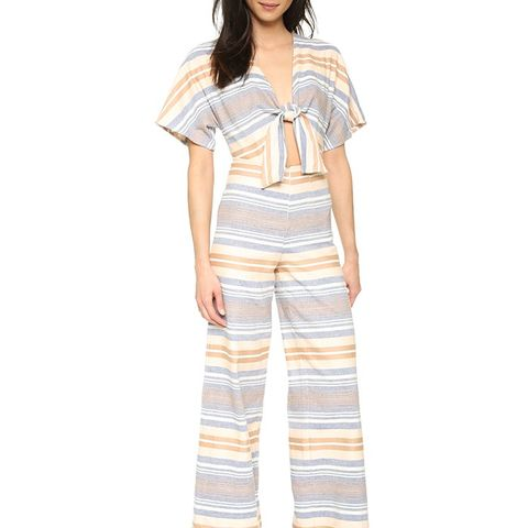 Cutout Silk and Cotton-Blend Jumpsuit