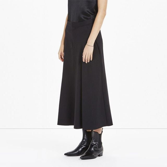 Bassike Stretch Flared Panel Skirt