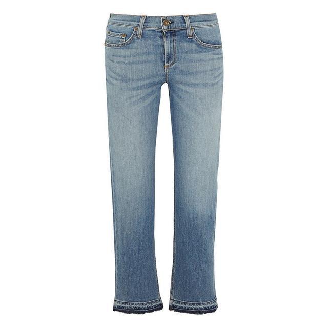 Rag & Bone Cropped Mid-Rise Straight Leg Jeans