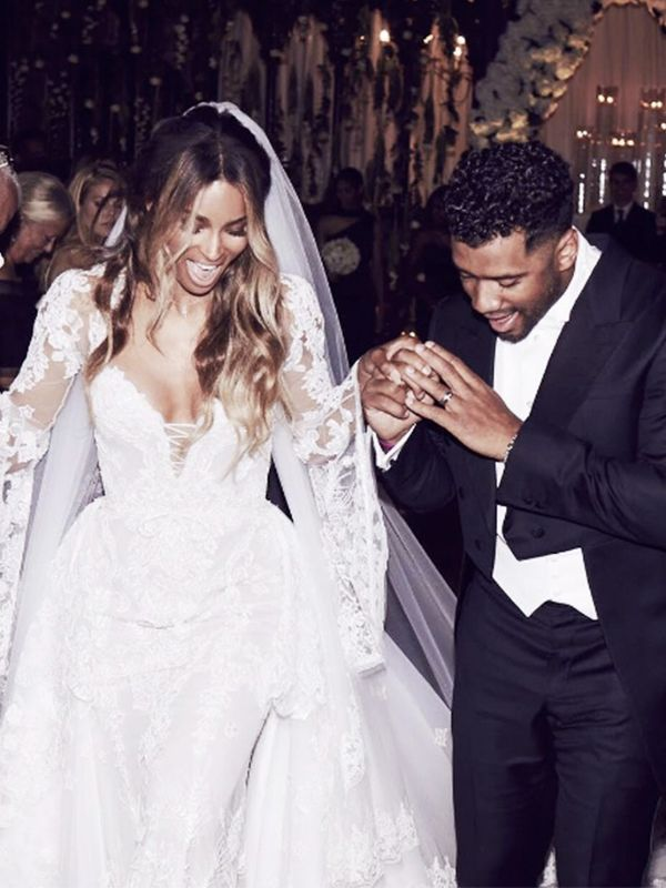 Most Stylish Weddings on Instagram: Ciara and Russell Wilson