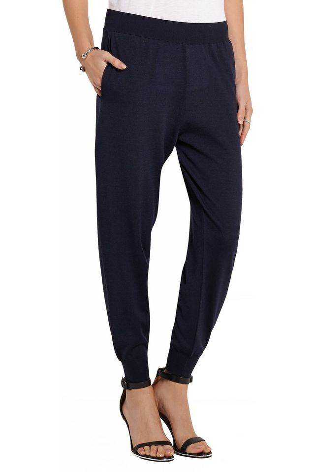 Stella McCartney Wool and Silk-Blend Track Pants