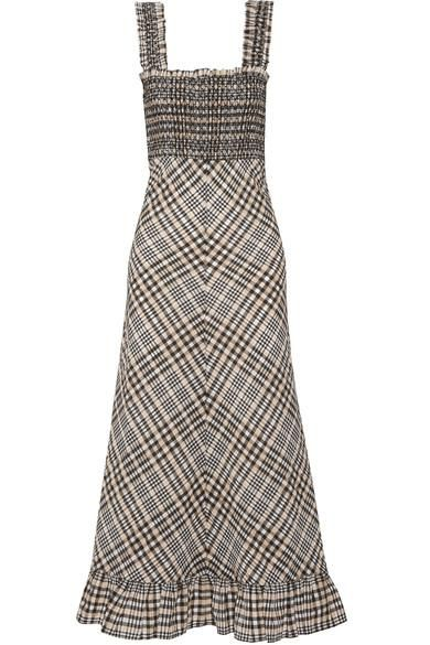 Charron Checked Cotton-blend Seersucker Maxi Dress
