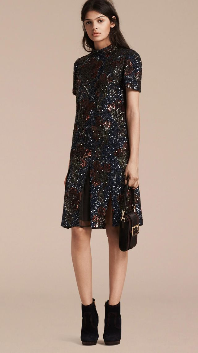 Burberry Hand-Embroidered Sequin Dress
