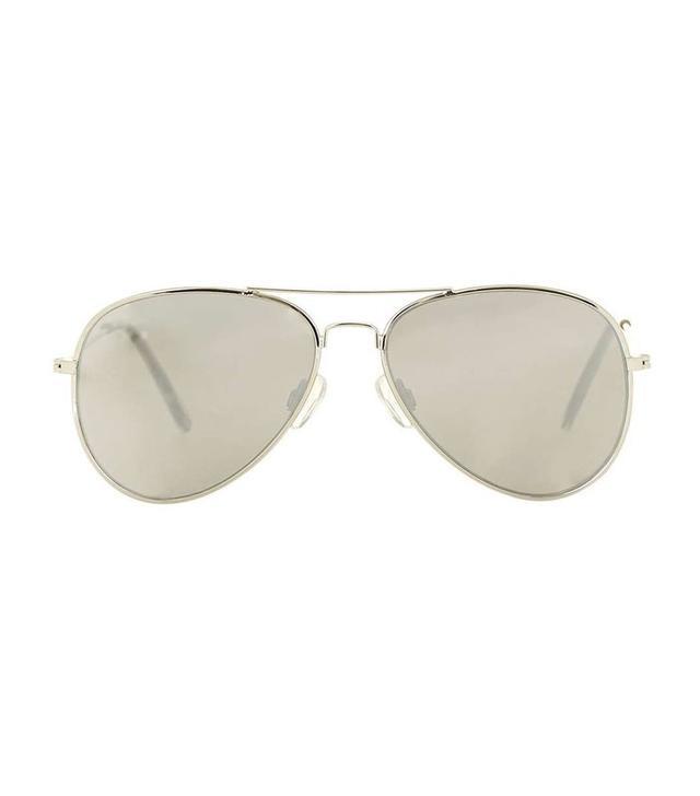 Topshop Flat Lens Aviator Sunglasses