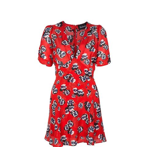The Ozzie Dress in Pansy Print