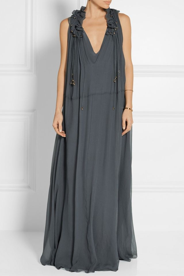 Chloé Ruffle-Trimmed Gown