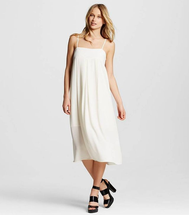 Who What Wear Apron Slip Dress