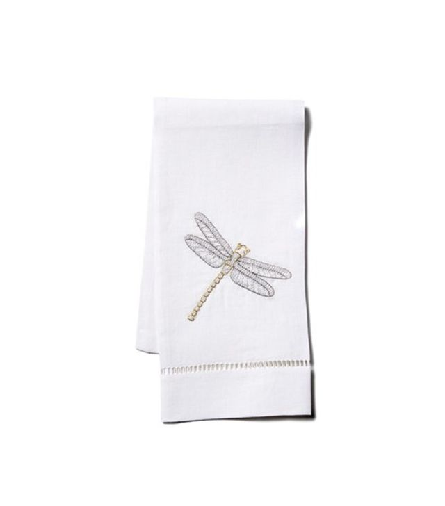 Hamburg House Dragonfly Linen Guest Towel