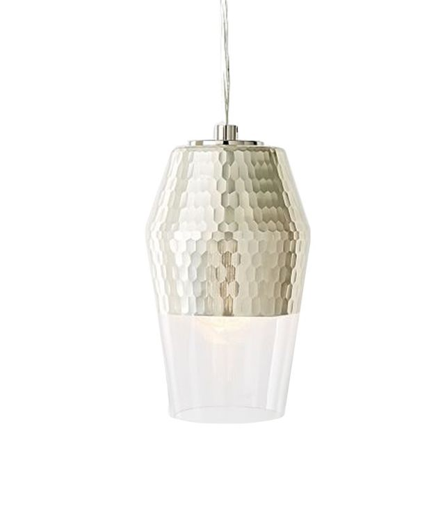 West Elm Metallic Honeycomb Glass Pendant