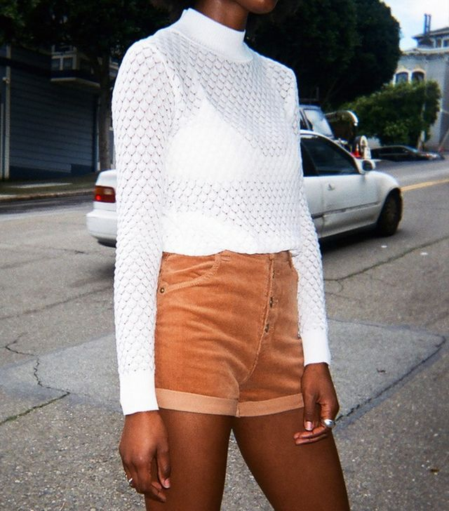 Storm & Marie Elena Long Sleeve Top in Bright White
